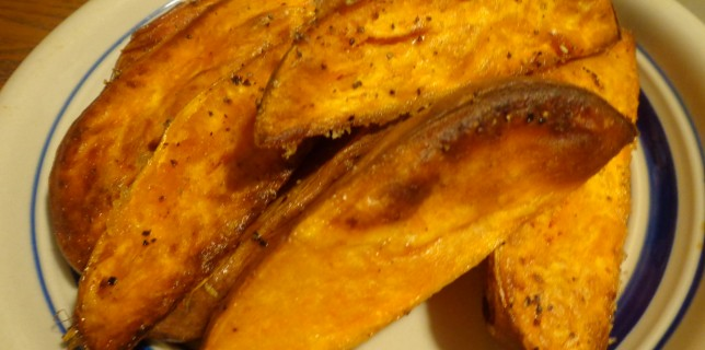 Sweet Potato Steak Fries – Oven Roasted